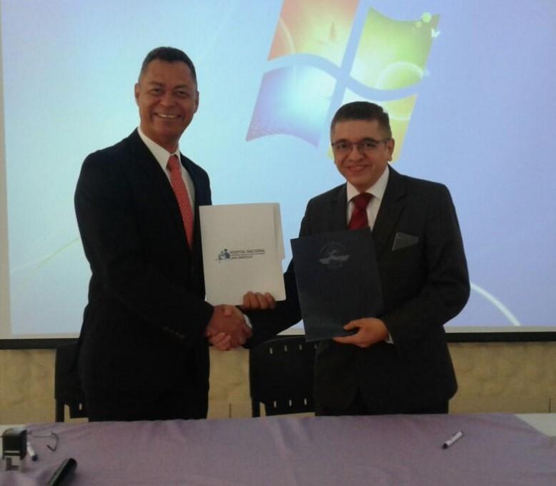 Firma de Convenio Interinstitucional entre la AAC y el Hospital Nacional de San Bartolo