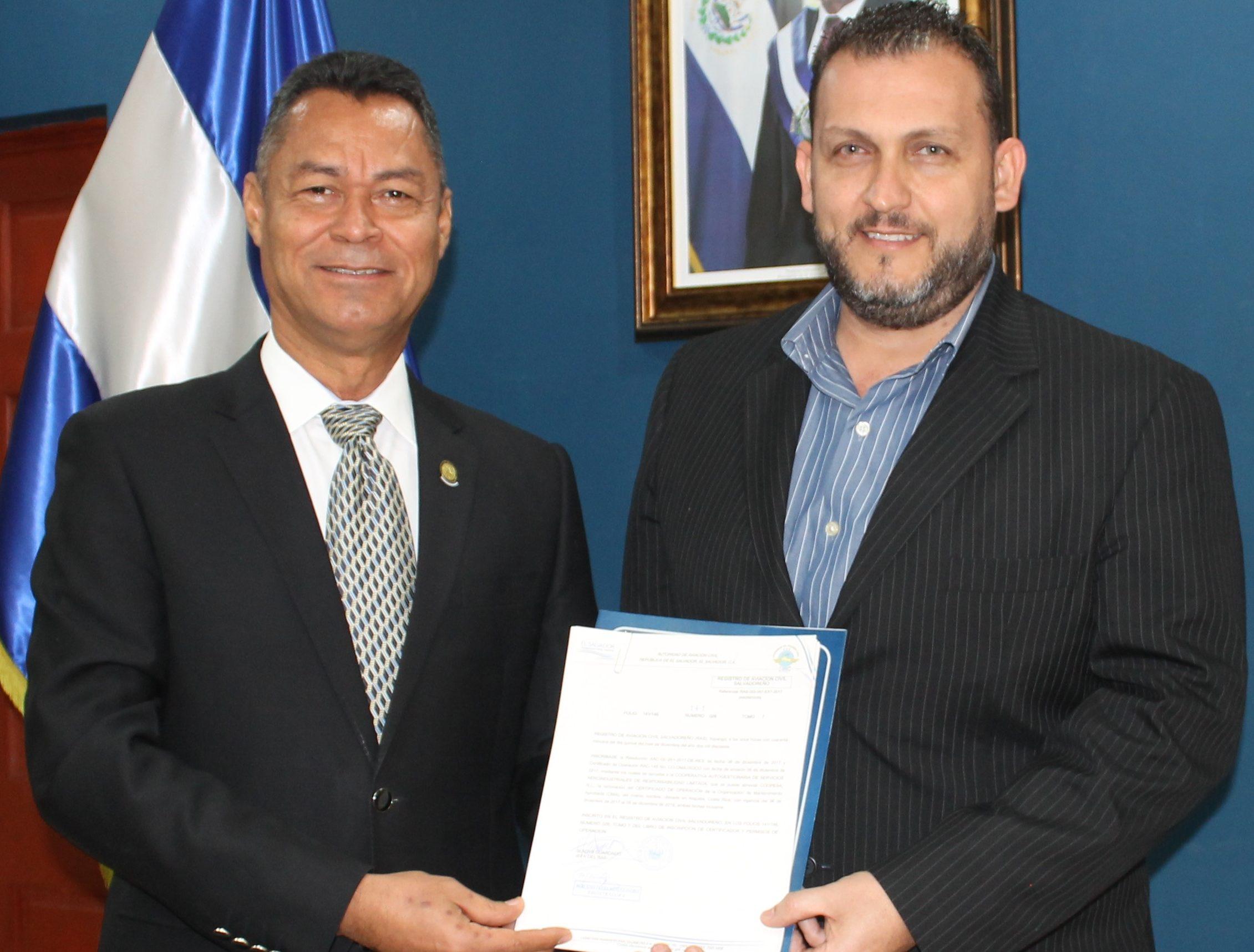 AAC RENUEVA CERTIFICADO Y PERMISO A TALLER DE MANTENIMIENTO AERONÁUTICO DE COSTA RICA.