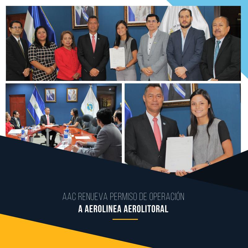 AAC renueva permiso de operación a aerolínea AEROLITORAL.